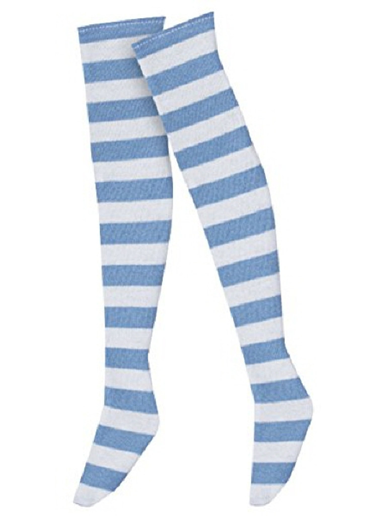 Azone FAR121-SXW for 50cm doll Border Over Thigh Socks Saxophone x White