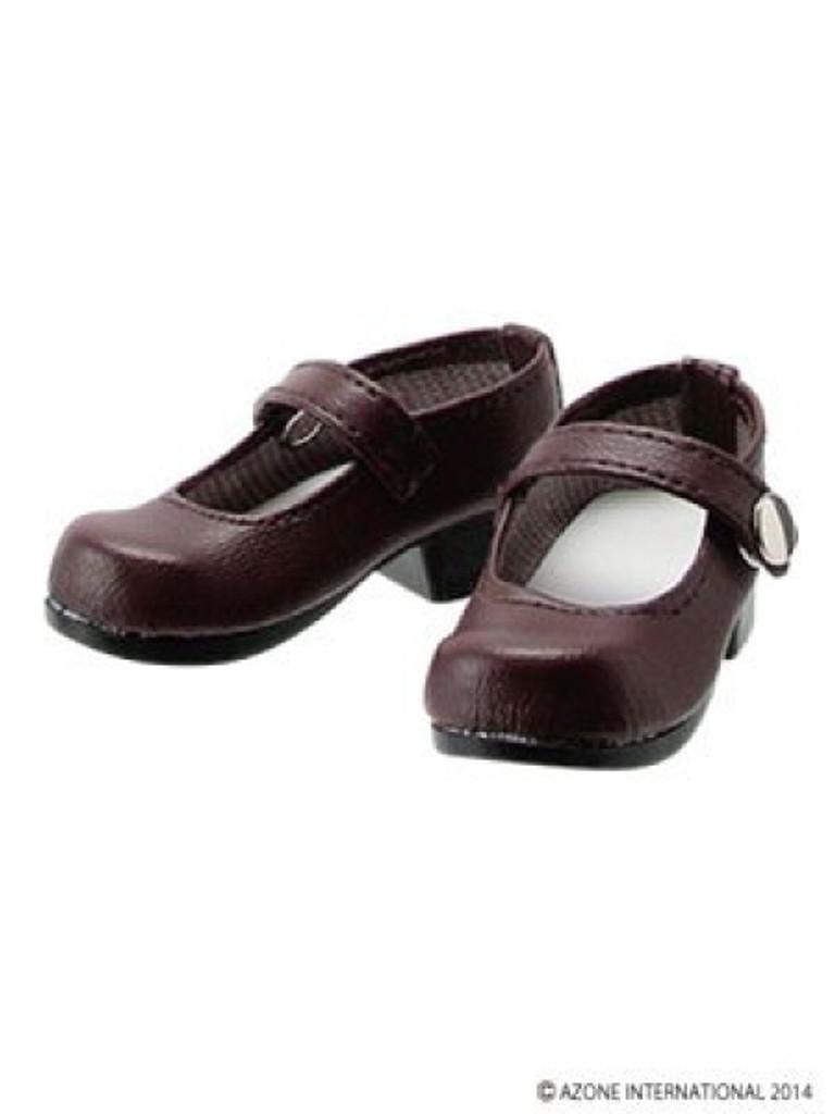 Azone FAR168-BRN for 50cm doll One Strap Shoes Dark Brown