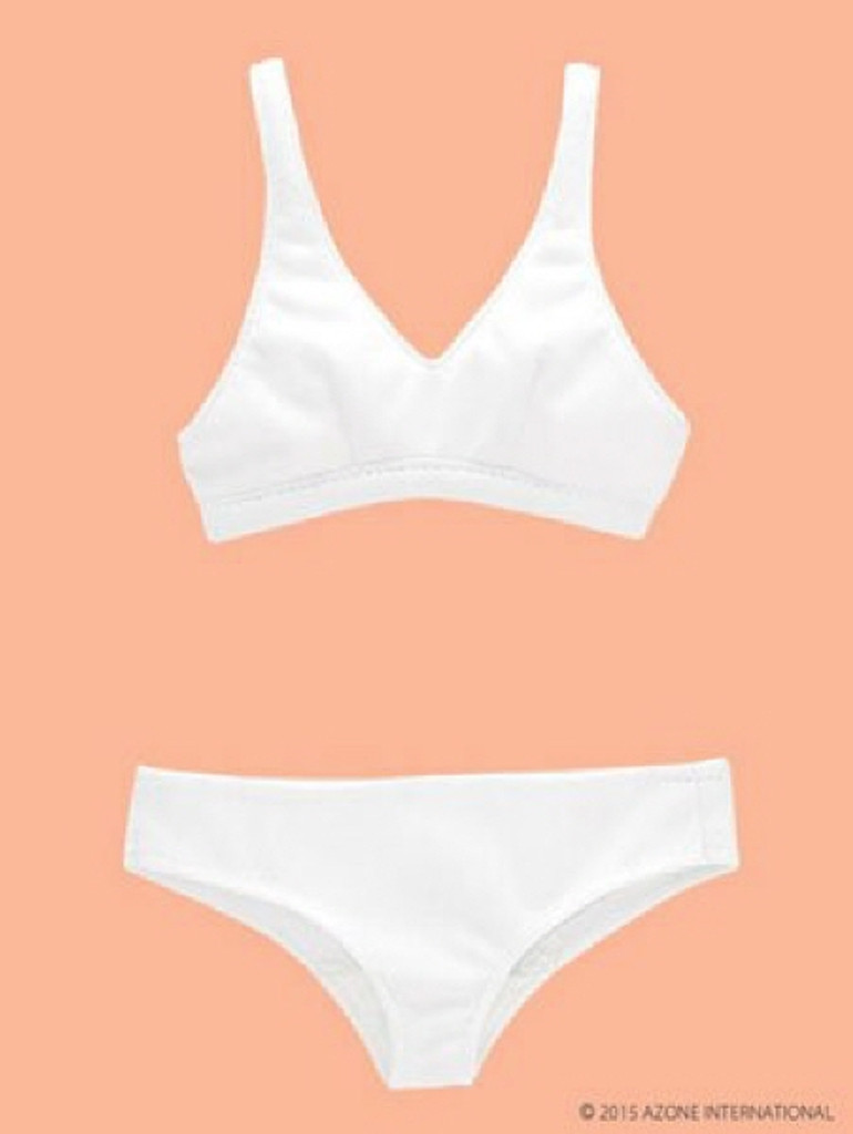 Azone FAR183-WHT 50cm doll Simple Underwear Set White