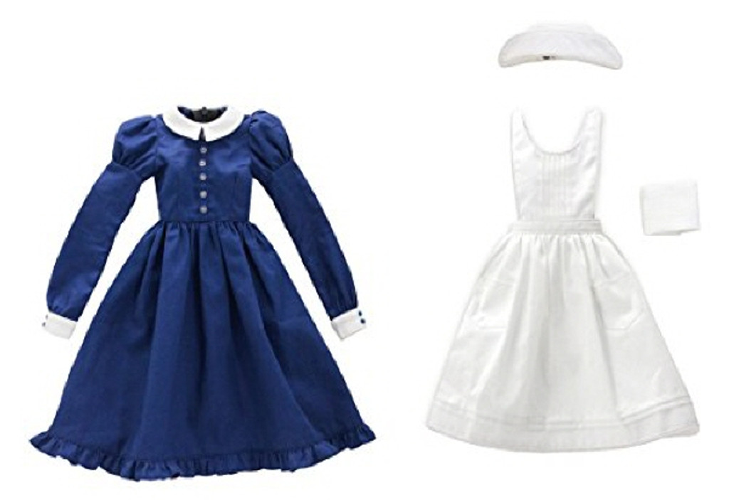 Azone FAR187-NVY for 50cm doll Classical Nurse Set White x Navy