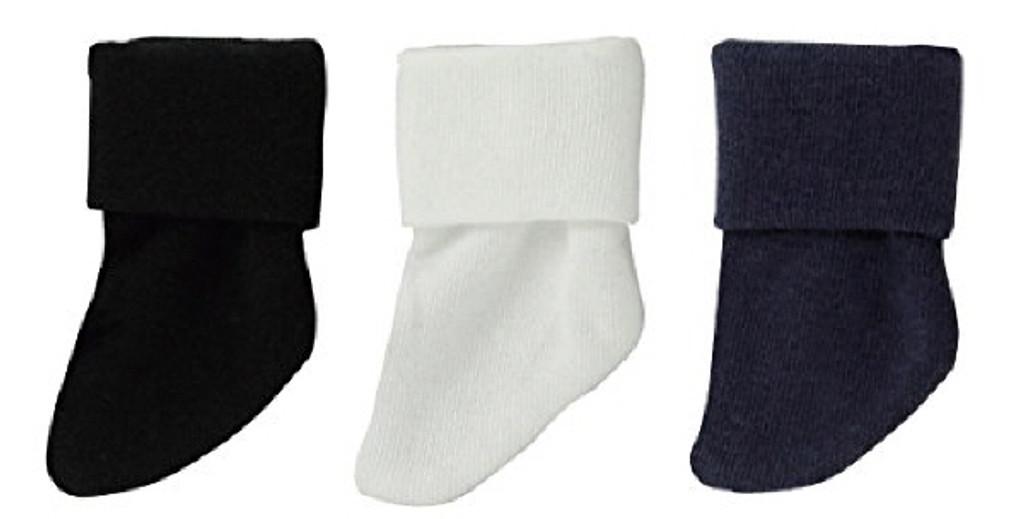 Azone KPT008-AST Mushroom Planet '3 Fold Socks Set' White / Black / Navy