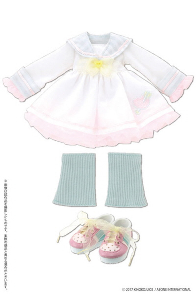 Azone KPT062-WHT Kinoko Planet Sailor School Uniform One Piece Dress White Mix