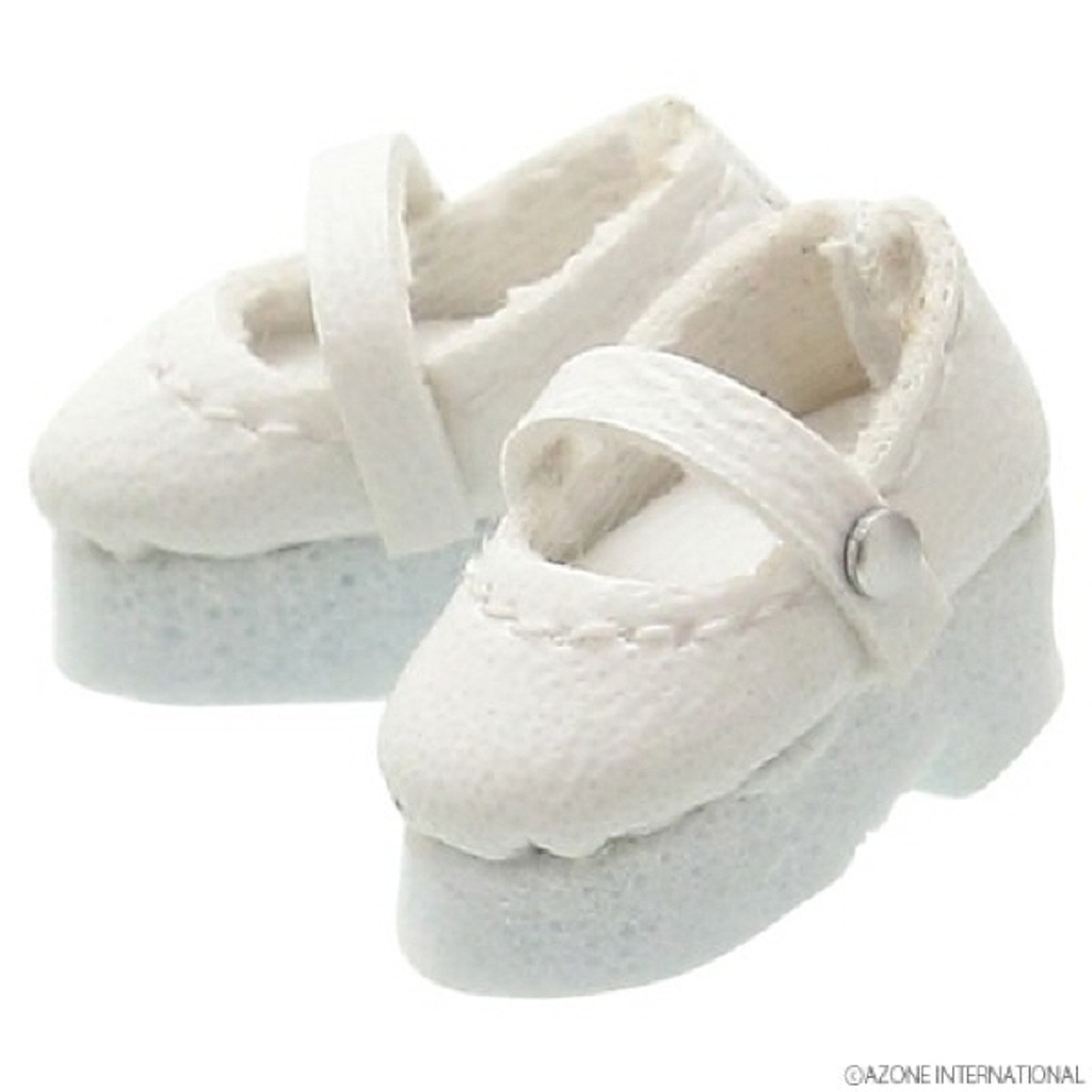 Azone PIC042-WHT 1/12 Strap Shoes White
