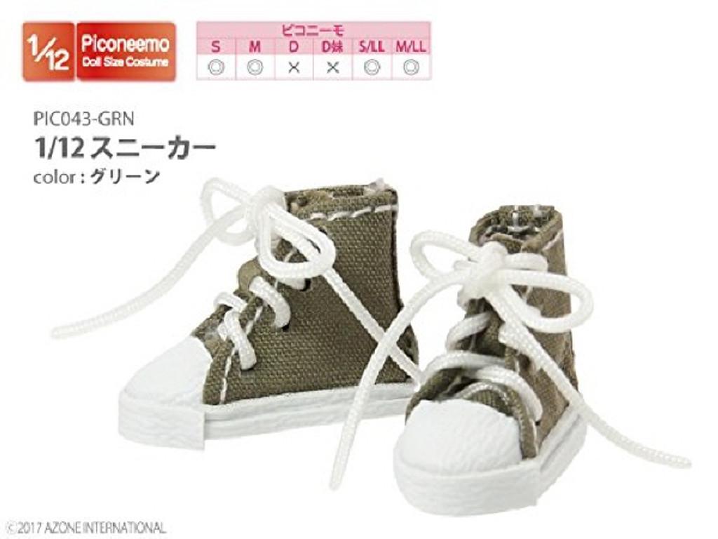 Azone PIC043-GRN 1/12 Sneaker Green