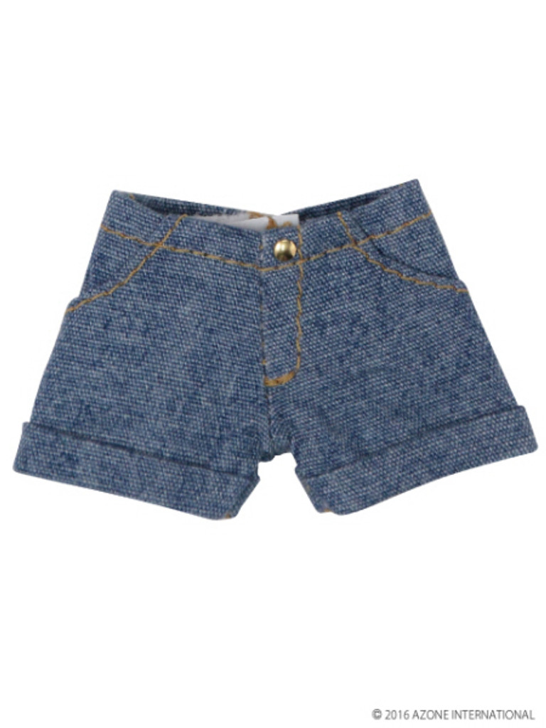 Azone PIC114-BLE 1/12 Roll Up Pants Denim