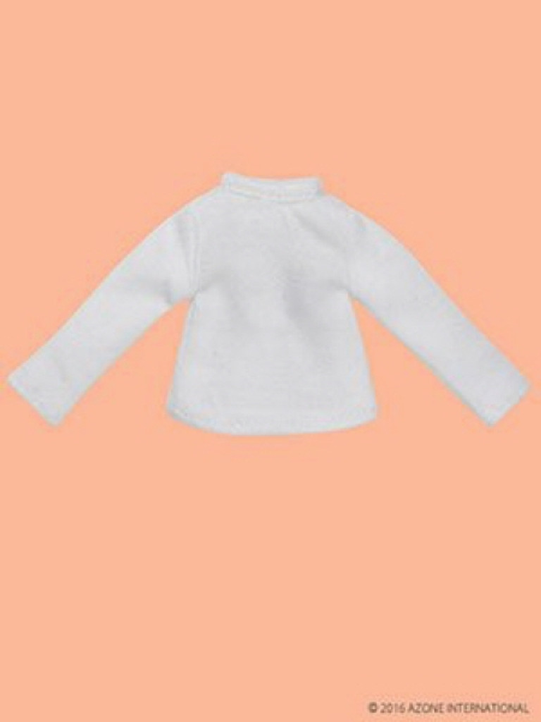 Azone PIC115-WHT 1/12 Long Sleeve T-Shirt White