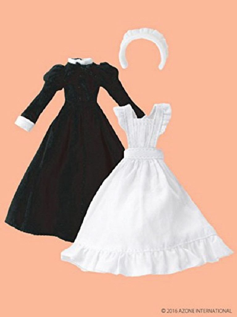 Azone PIC120-BLK 1/12 Classical Long Maid Clothes Set Black