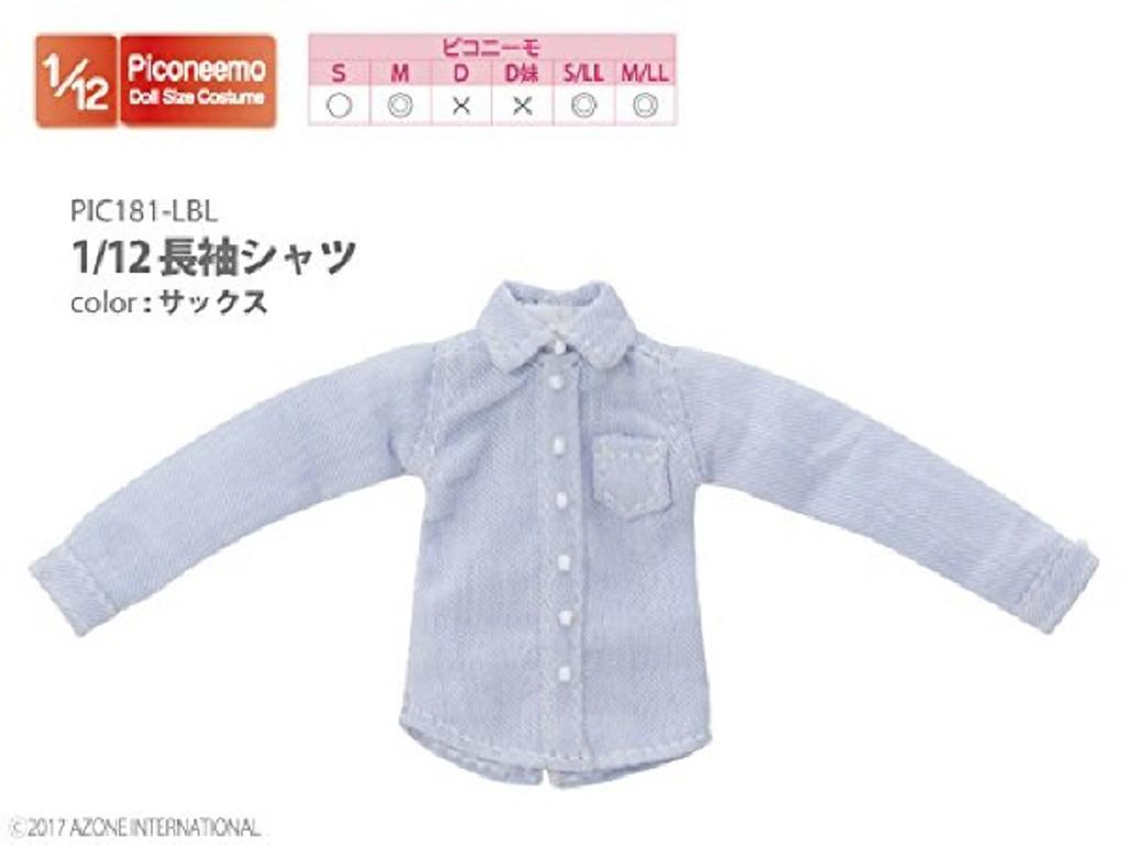 Azone PIC181-LBL 1/12 Long Sleeve Shirt Saxophone