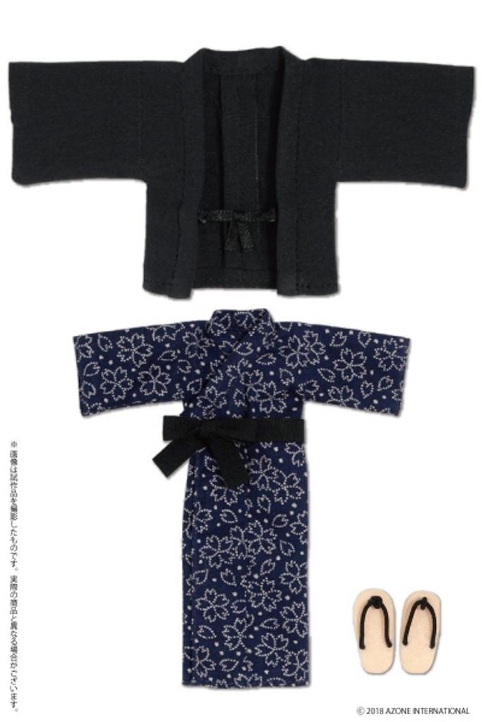 Azone PIC200-DNV 1/12 Onsen Hot Spring Yukata Set Dark Blue