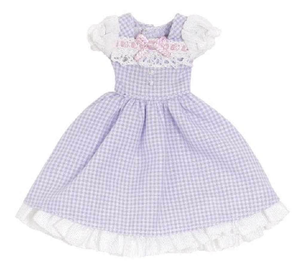 Azone PIC201-PPL 1/12 Sweet Gingham One Piece Lavender Check