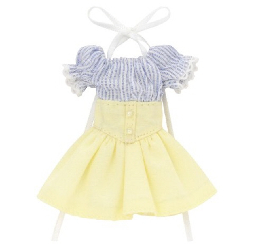Azone PIC202-BLC 1/12 Off-Shoulder Sunny One Piece Dress Stripe x Cream Yellow