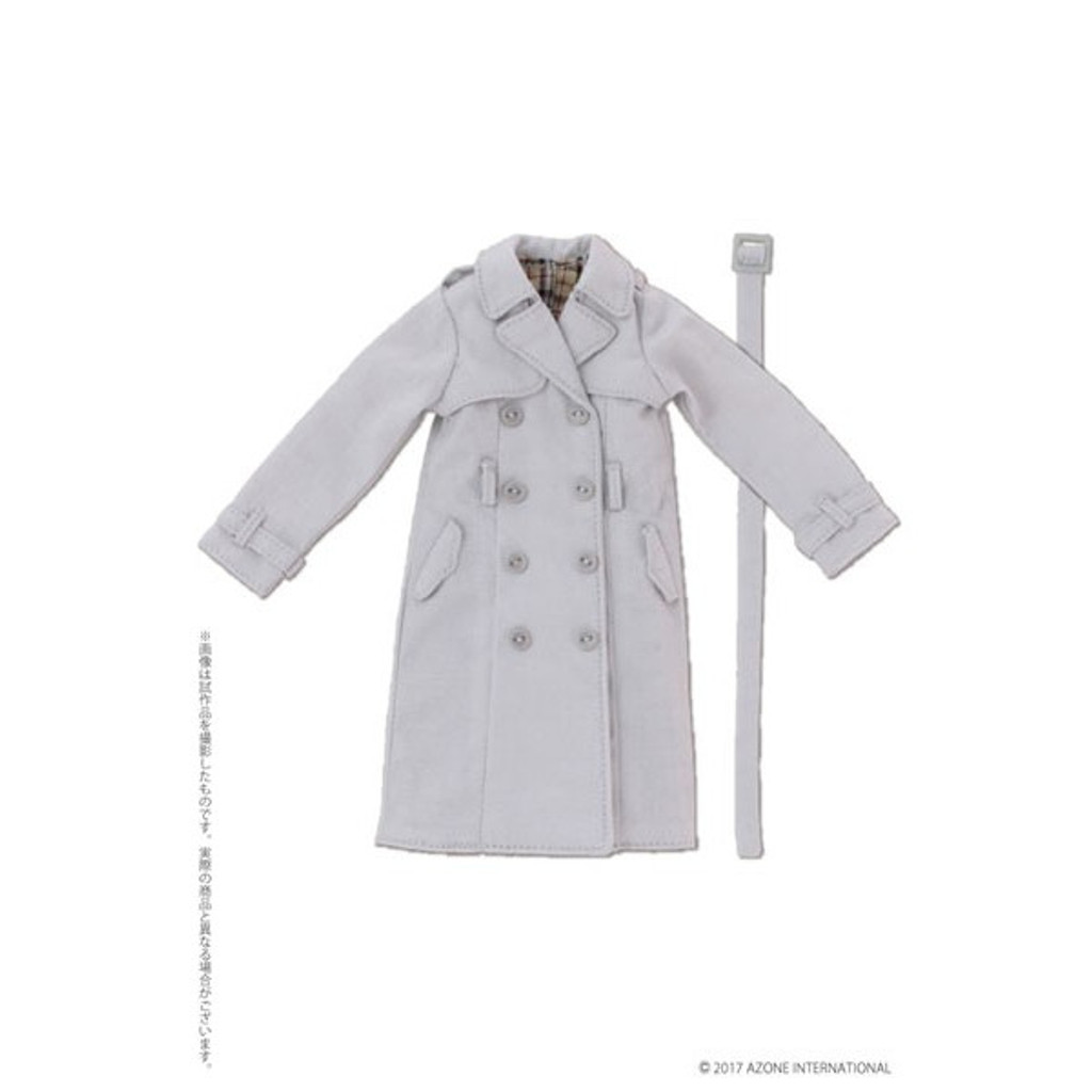 Azone PNM169-LGR PNM Trench Coat Light Gray