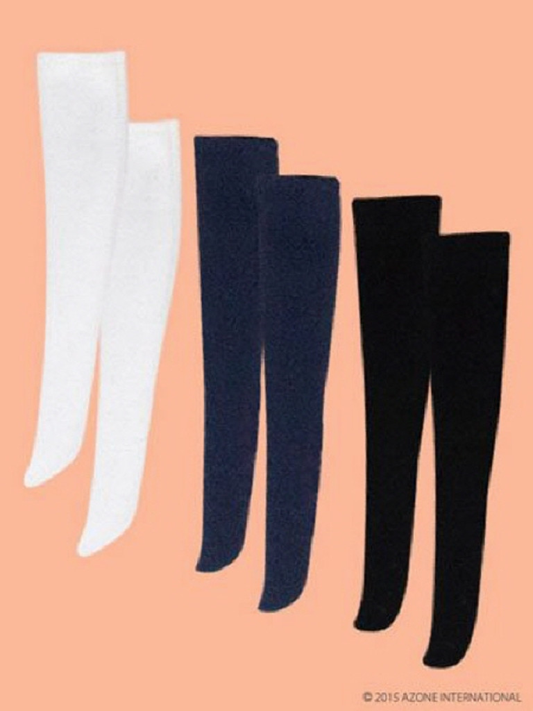 Azone POC368-AST PNS Knee High Socks Set Black, Navy, White