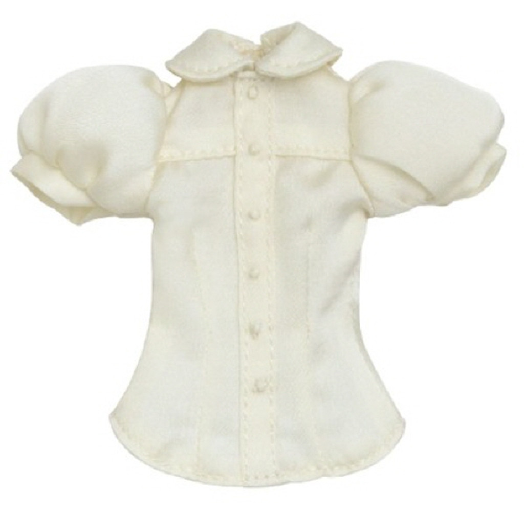 Azone POC398-CRM PNS Simple Round Collar Blouse Cream
