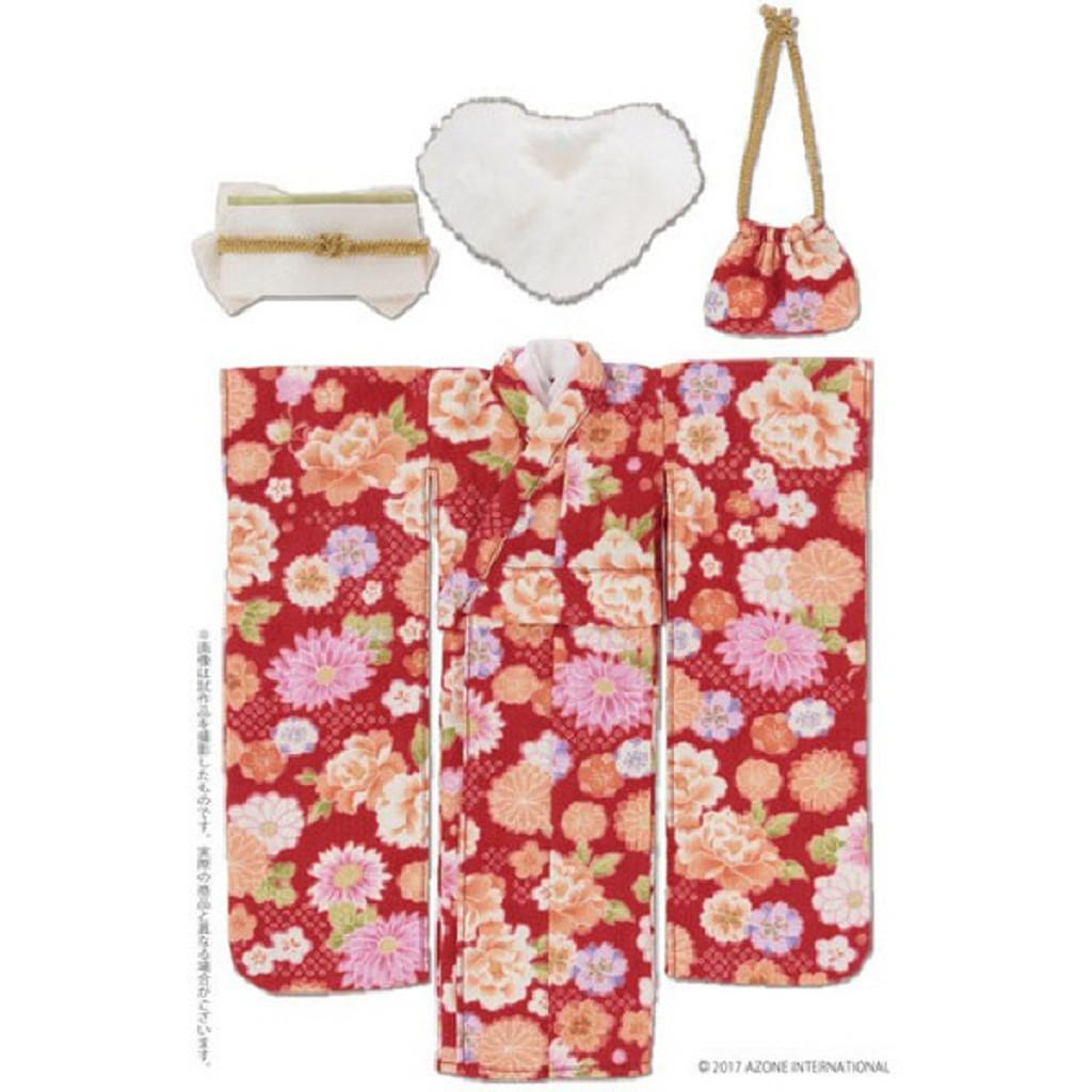 Azone POC431-RED PNS Kimono Set Scarlet