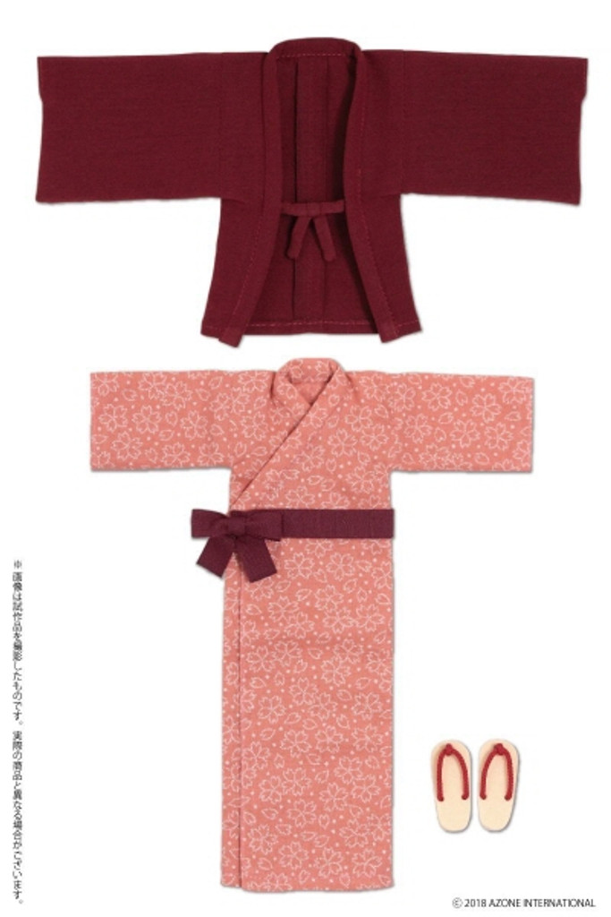 Azone POC440-BLD PNS Onsen Hot Spring Yukata Set Dark Red