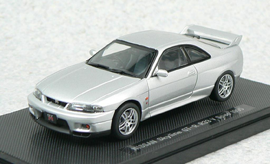 Ebbro 43882 NISSAN SKYLINE GT-R R33 V-Spec Silver 1/43 Scale