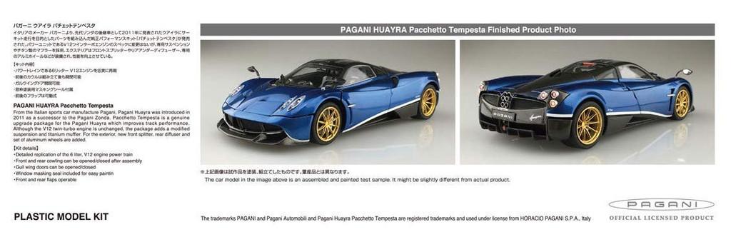 Aoshima 55991 Pagani Huayra Pachetto Tempesta 1/24 Scale kit