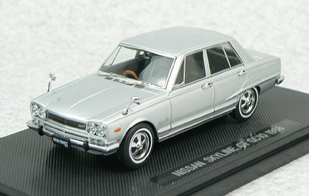 Ebbro 43935 NISSAN SKYLINE 2000GT GC10 1968 Silver 1/43 Scale