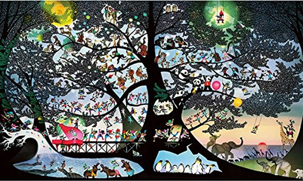APPLEONE Jigsaw Puzzle 1000-830 Seiji Fujishiro Joy of Living (1000 Pieces)