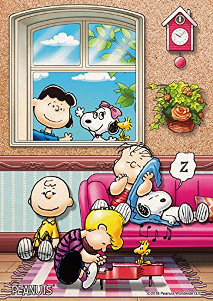 Beverly Jigsaw Puzzle 88-033 Cork Peanuts Snoopy Take a Nap with Piano (88 L-Pieces)