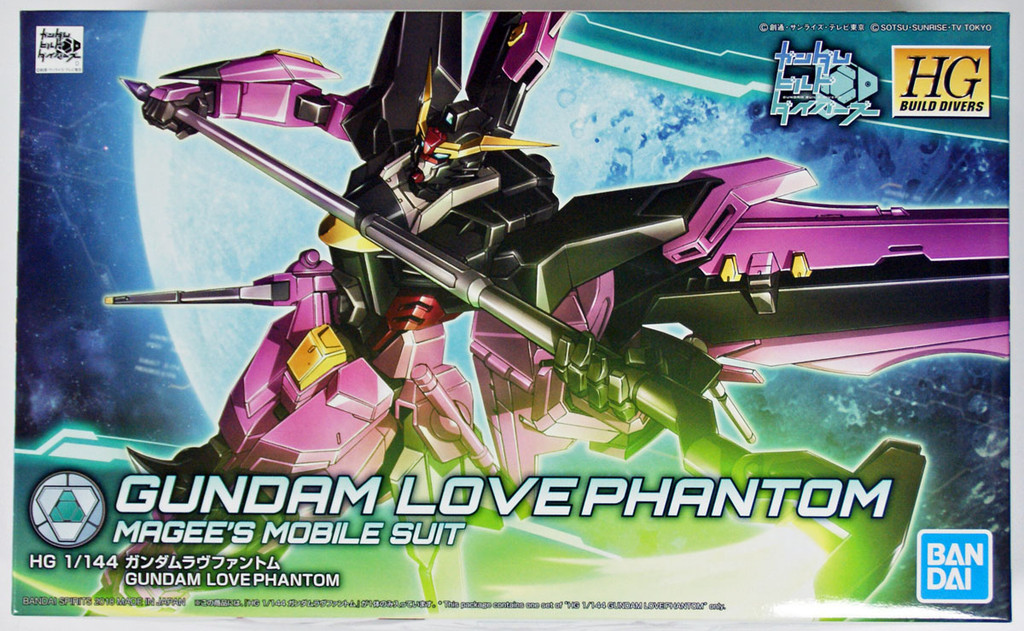 Bandai Gundam Build Divers 019 Gundam Love Phantom 1/144 Scale Kit