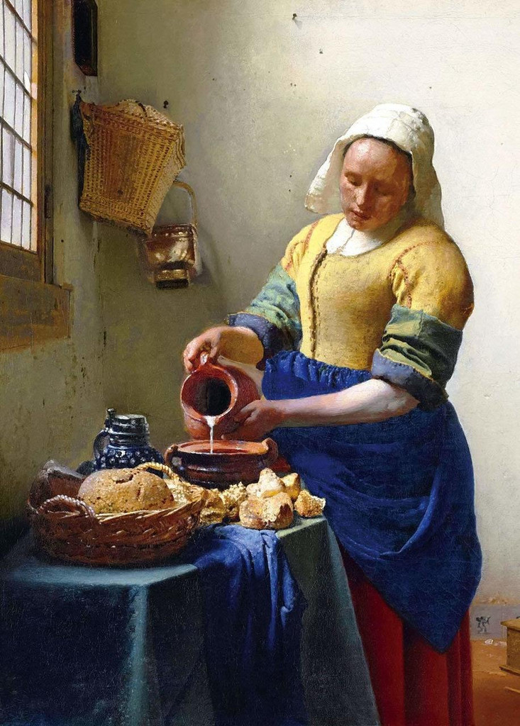 Epoch Jigsaw Puzzle 54-020 World Paintings Vermeer The Milkmaid (2000 S-Pieces)