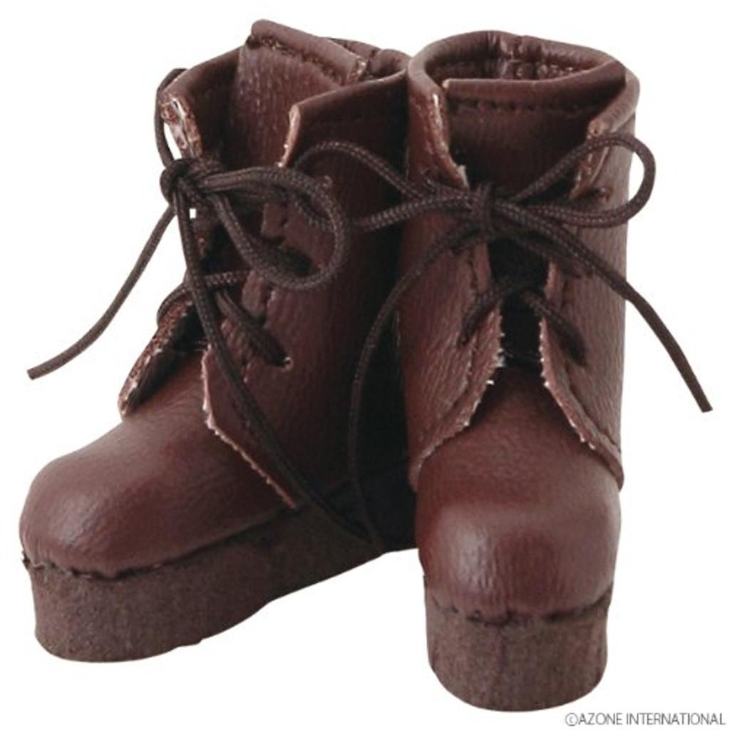 Azone AKT090-DBR Pure Neemo Pukkuri Short Boots Dark Brown