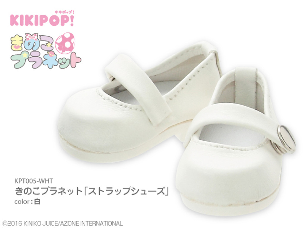 Azone KPT005-WHT Mushroom Planet 'Strap Shoes' White