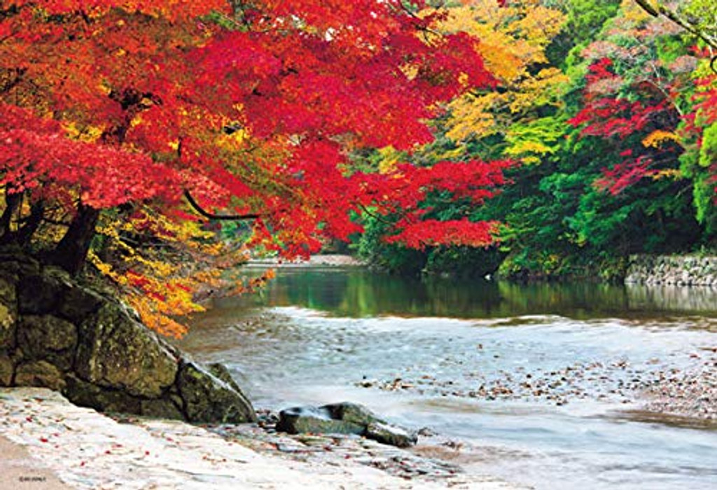 Beverly Jigsaw Puzzle 33-159 Autumn Leaves Ise Grand Shrine Isuzu River Japan (300 Pieces)