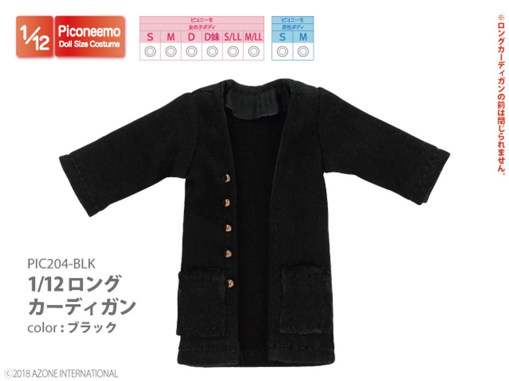 Azone PIC204-BLK 1/12 Picco Neemo Long Cardigan Black