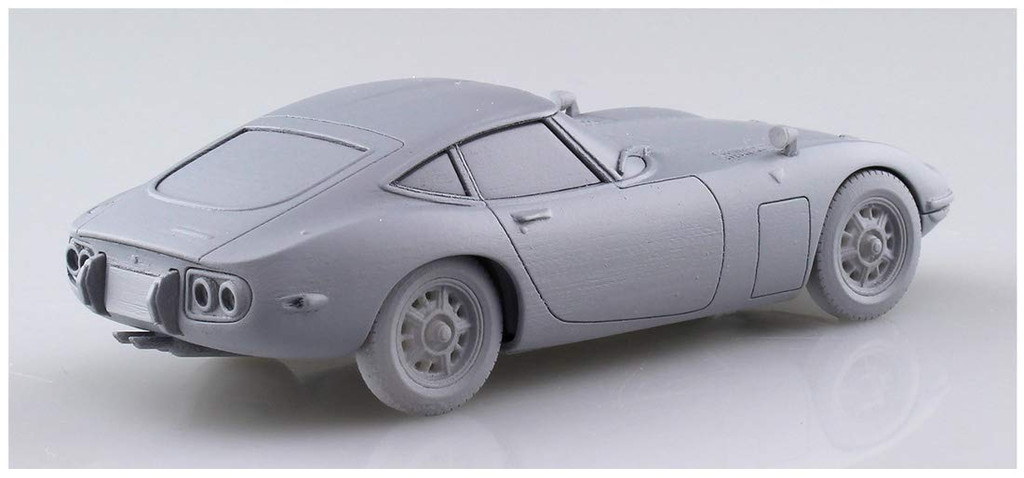 Aoshima 56295 Toyota Toyota 2000GT Thunder Silver Metallic 1/32 Scale Pre-painted Snap-fit Kit