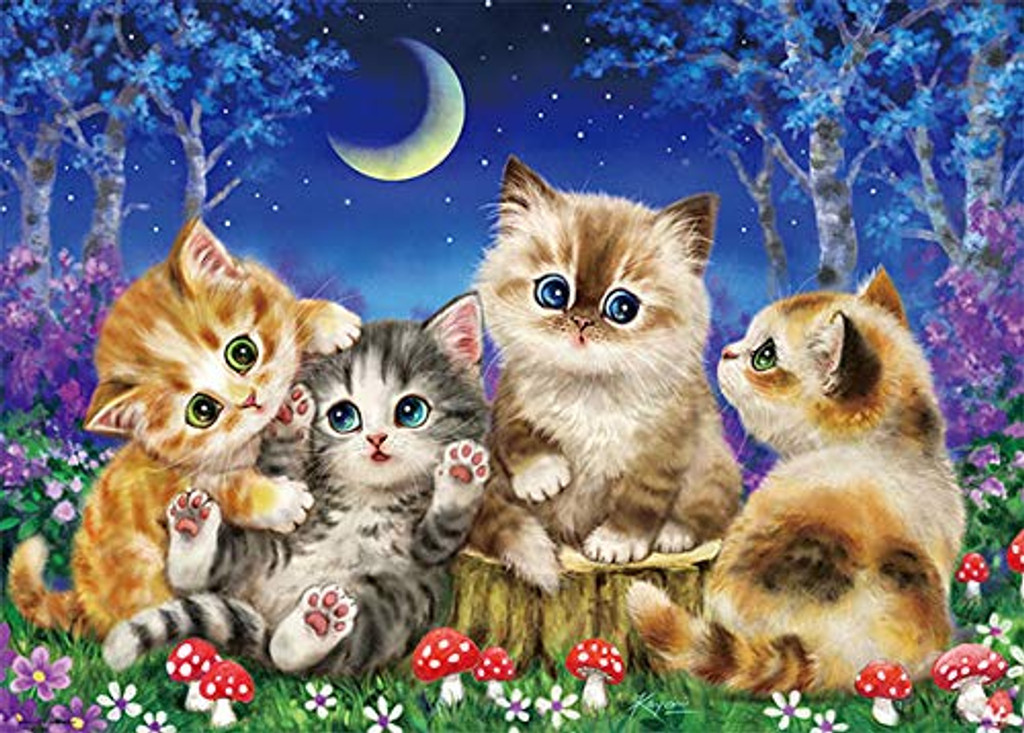 Beverly Jigsaw Puzzle 66-103 Kitty Cats in the Moonlight (600 Pieces)