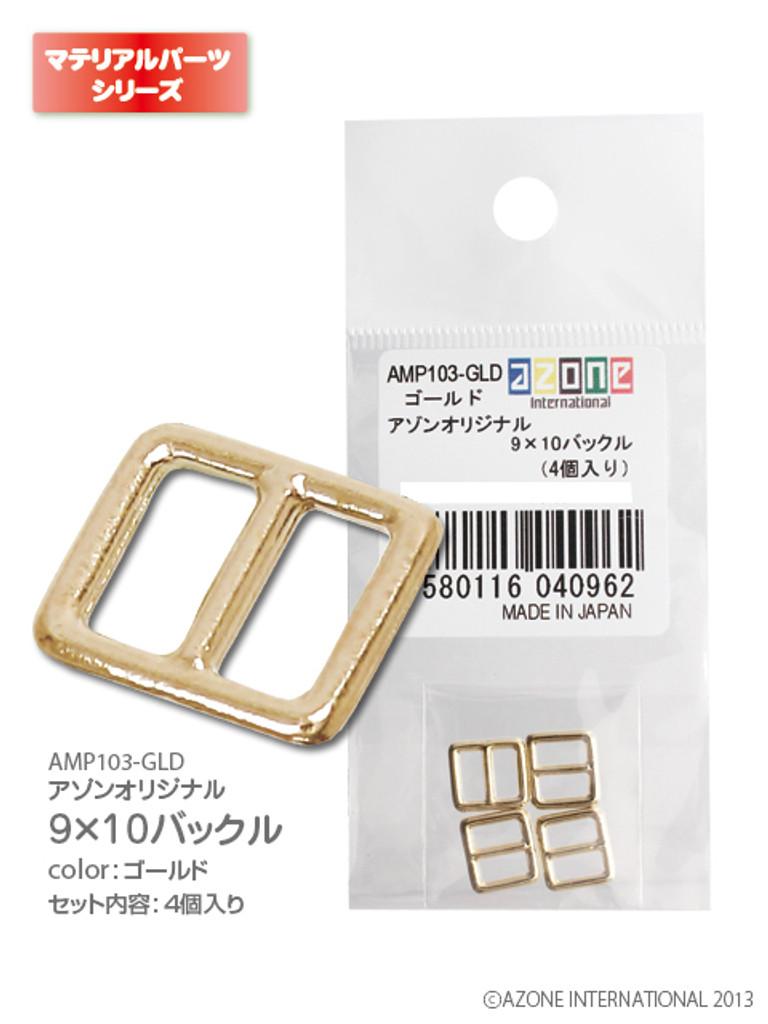 Azone AMP103-GLD Azone Original 9 x 10 Buckle Gold (4pcs)