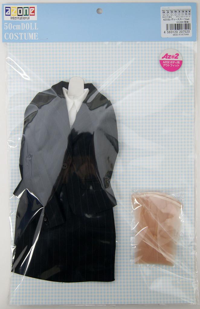 Azone FAO117-BKS 50cm AZO2 Ladies Suit Set Black Stripes