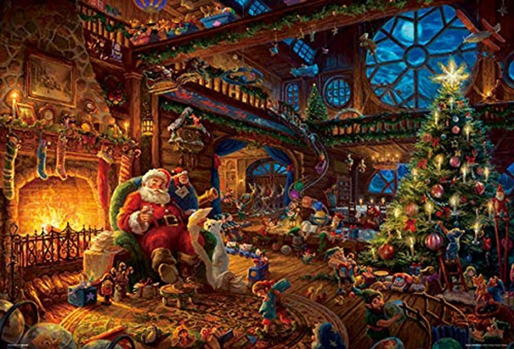 Beverly Jigsaw Puzzle 31-489 Thomas Kinkade Santa Workshop (1000 Pieces)
