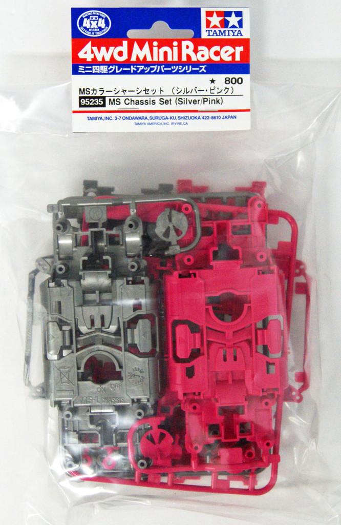 Tamiya 95235 Mini 4WD MS Chassis Parts Silver/Pink