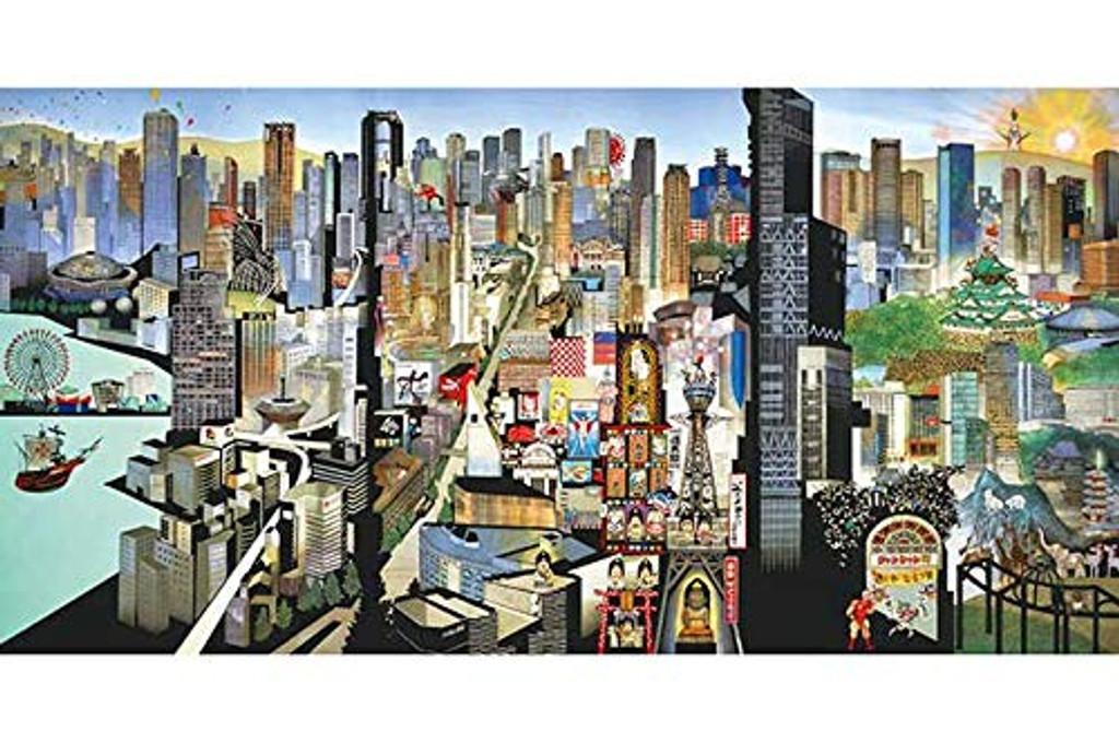 APPLEONE Jigsaw Puzzle 1000-832 Seiji Fujishiro Osaka Panorama (1000 Pieces)