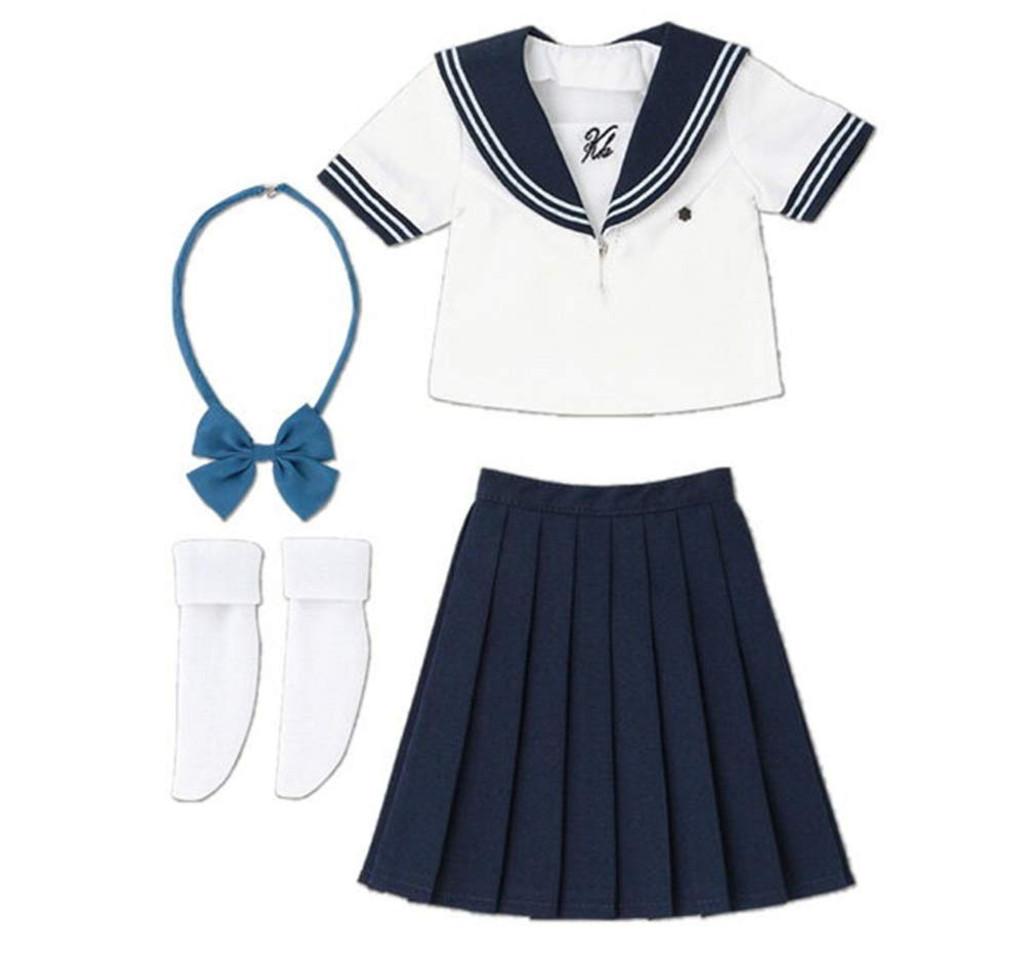 Azone FAO123-WHB 50cm AZO2 Private Kazuharu High School Uniform Summer White x Navy