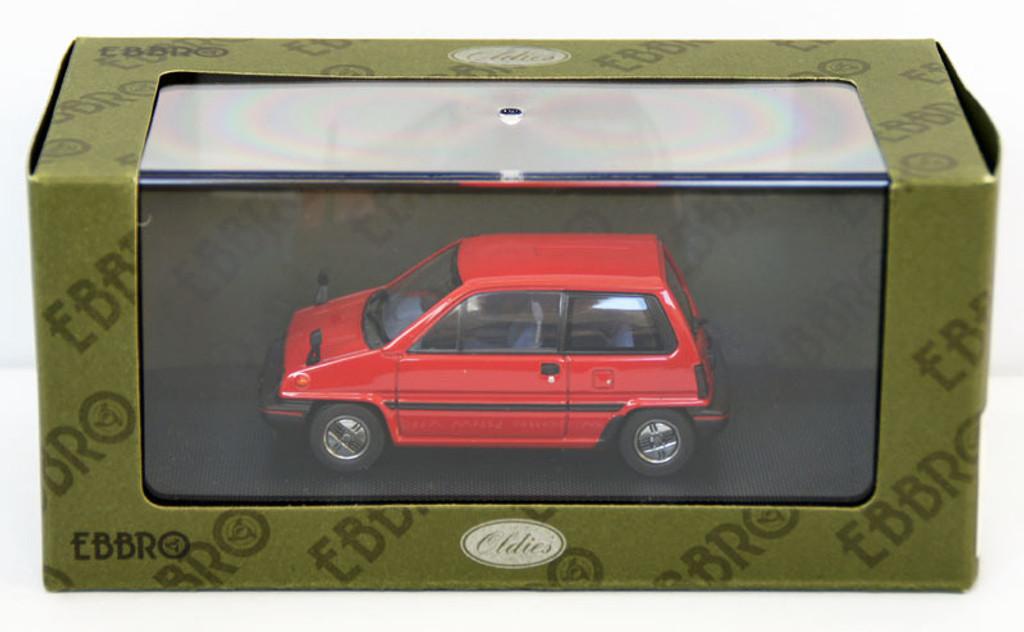 Ebbro 44491 Honda City With Alloy Wheel (Red) 1/43 Scale