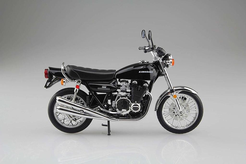 Aoshima Skynet 05948 Kawasaki 900 Super4 (Z1) Black 1/12 Scale Finished Model