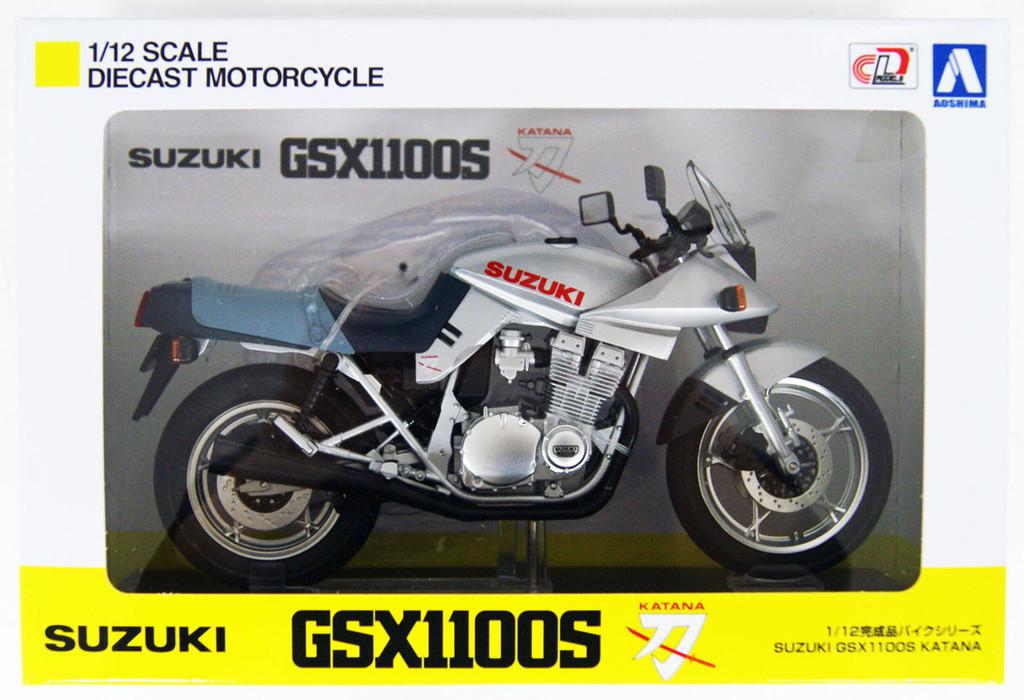 Aoshima Skynet 05221 Suzuki GSX1100S KATANA SL Silver 1/12 Scale Finished Model