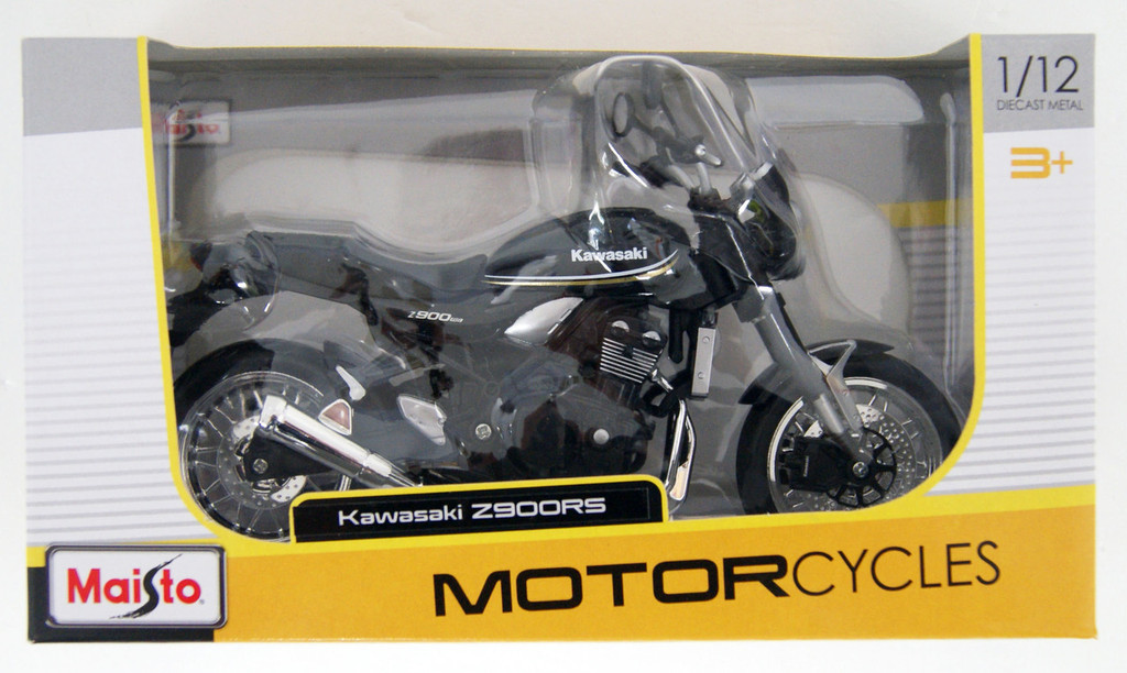 Aoshima Skynet 05023 Kawasaki Z900RS Metallic Spark Black 1/12 Scale Finished Model