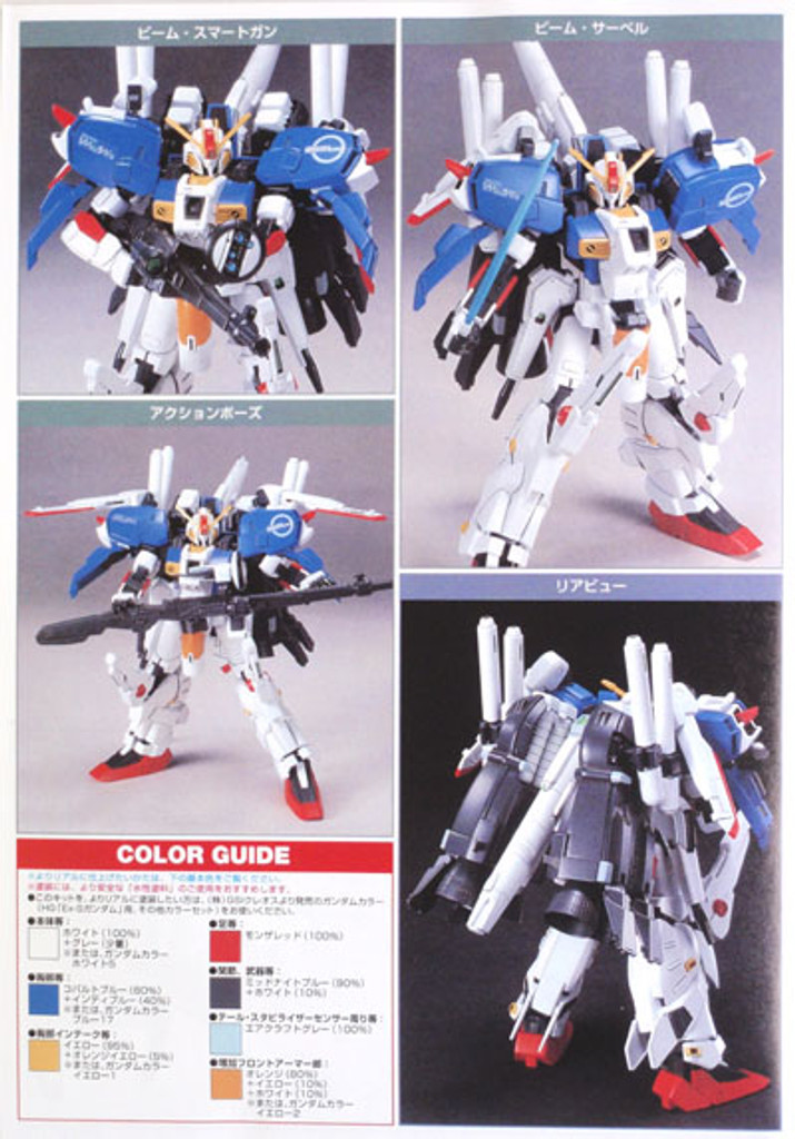 Bandai HGUC 029 Gundam MSA-0011 (Ext) Ex-S Gundam 1/144 Scale Kit