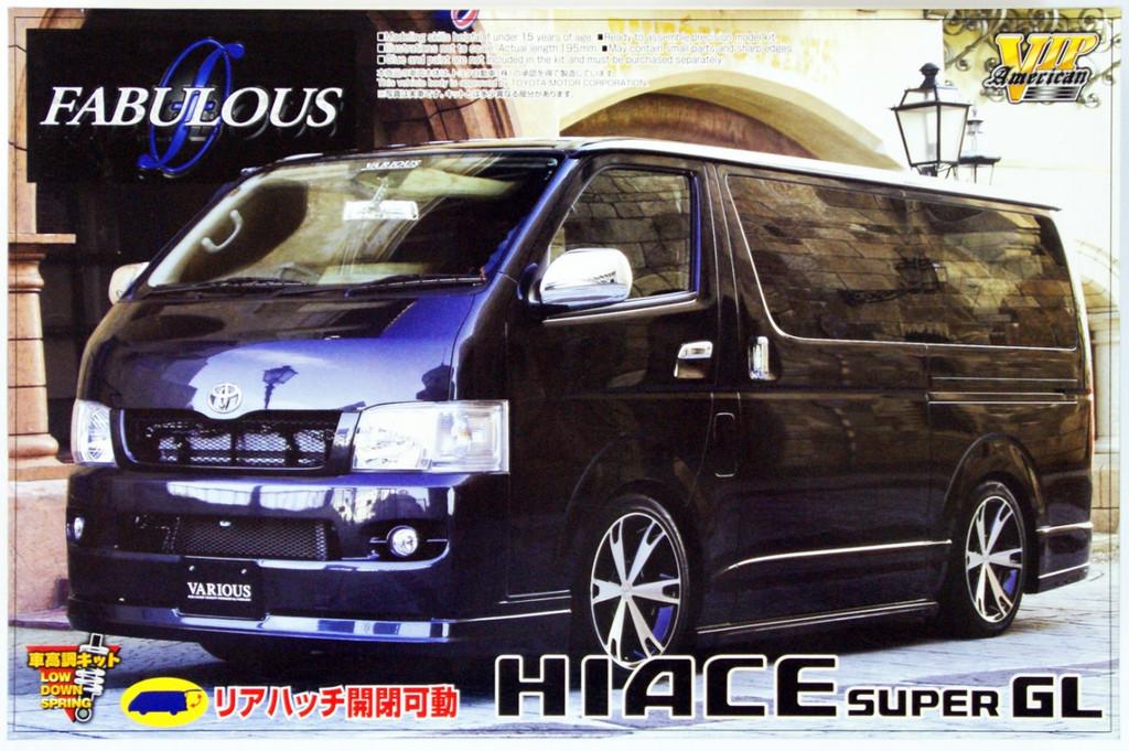 Aoshima 48542 Toyota Hiace Super GL Fabulous Various 1/24 Scale Kit