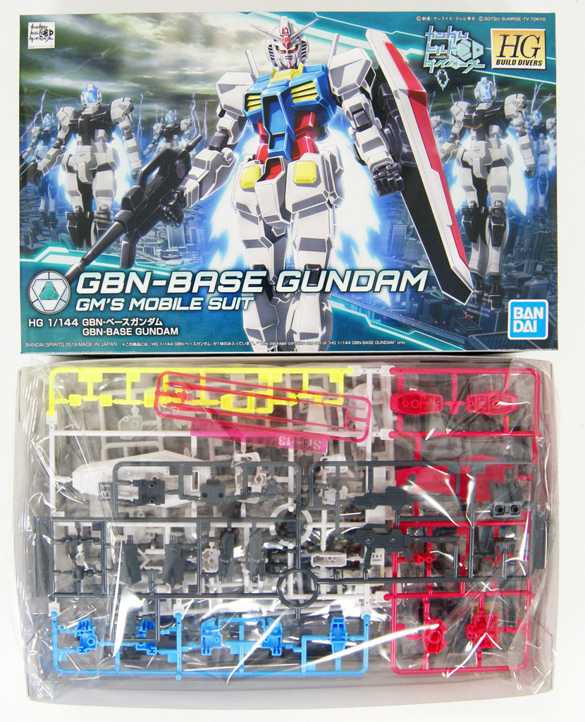 Bandai Gundam Build Divers 025 GBN-Base Gundam 1/144 Scale Kit