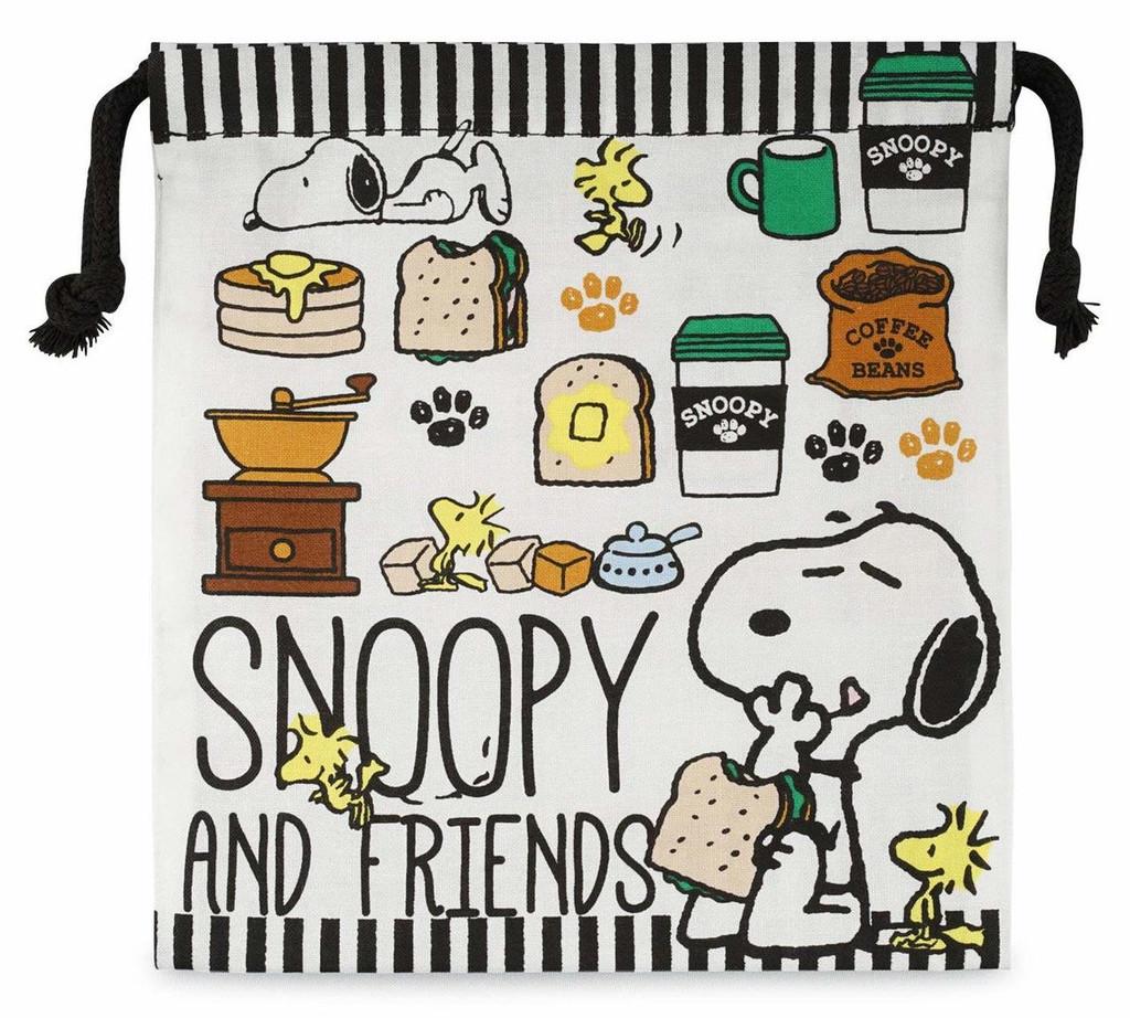 Skater Drawstring Bag Peanuts Snoopy Caf? TJO