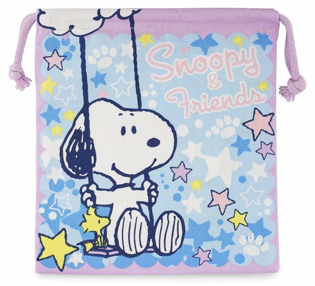 Skater Drawstring Bag Peanuts Snoopy Star TJO