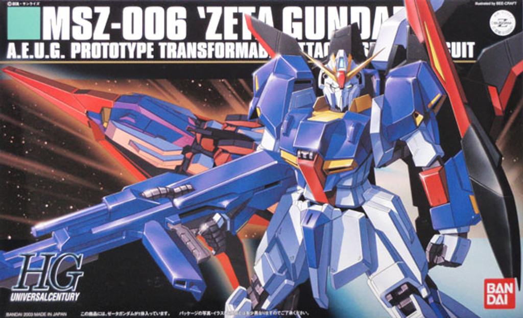 Bandai HGUC 041 Gundam MSZ-006 ZETA 1/144 Scale Kit