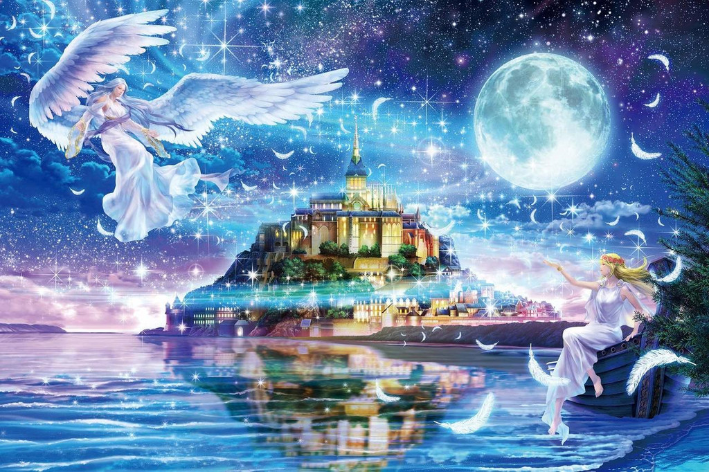 Epoch Jigsaw Puzzle 12-059 Fantasy Landscape Angels Oracle (1000 Pieces)